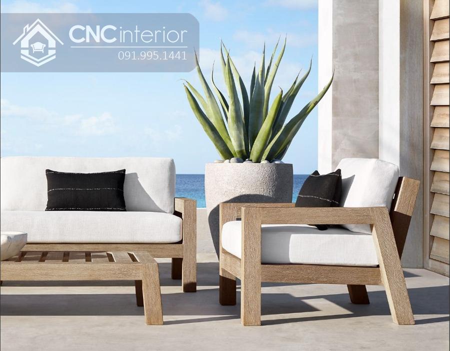 Sofa đơn nhỏ gọn bằng gỗ CNC 04 3