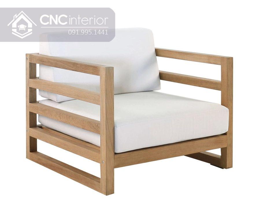 Ghế gỗ sofa đơn nhỏ gọn tiện lợi CNC 10