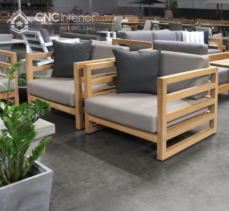 Ghế gỗ sofa đơn nhỏ gọn tiện lợi CNC 10 1