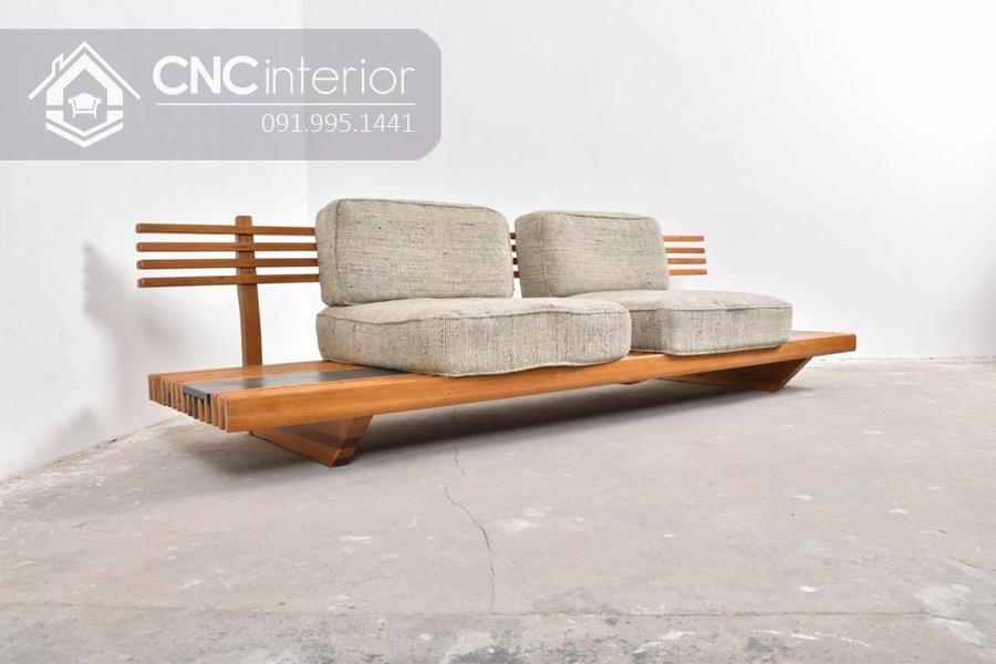 Sofa gỗ chữ I đẹp ấn tượng CNC 15 3