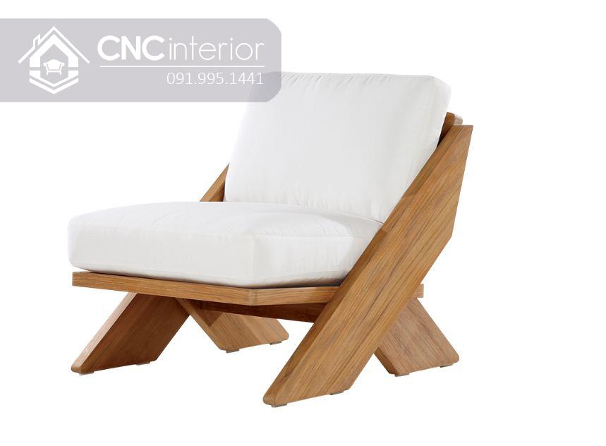 Sofa gỗ đơn nhỏ gọn CNC 16