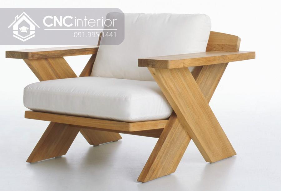 Sofa gỗ đơn nhỏ gọn CNC 17 2
