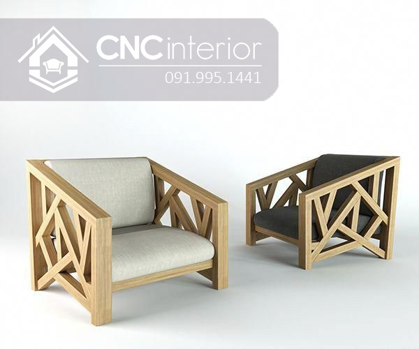 Sofa go don gian CNC 191