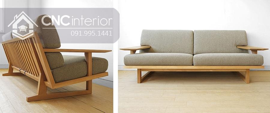 Ghế sofa gỗ tự nhiên đẹp hiện đại CNC 20