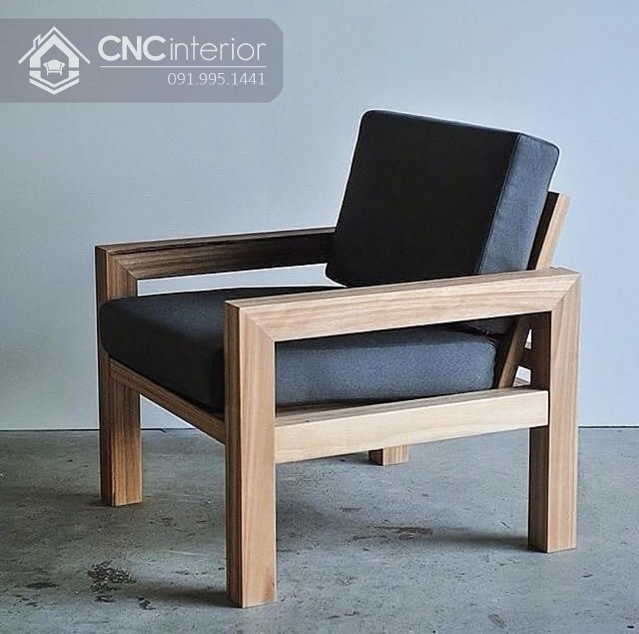 Ghế sofa gỗ cho phòng khách nhỏ CNC 21 1