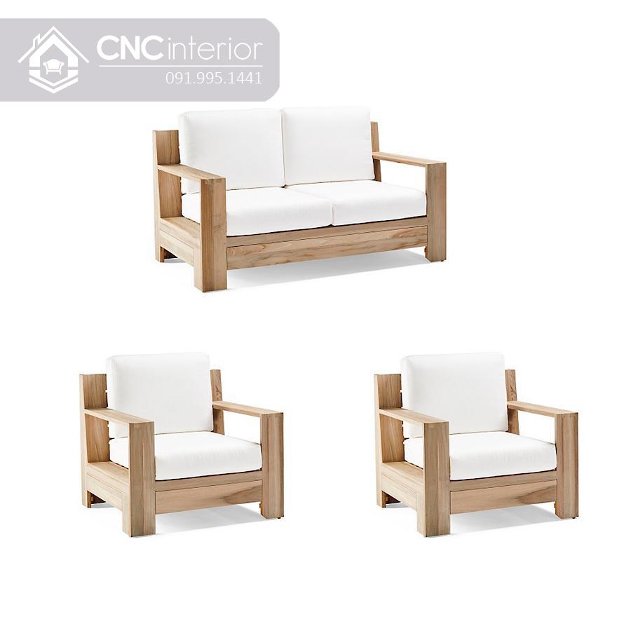 Ghế sofa đơn giản bằng gỗ CNC 23 1