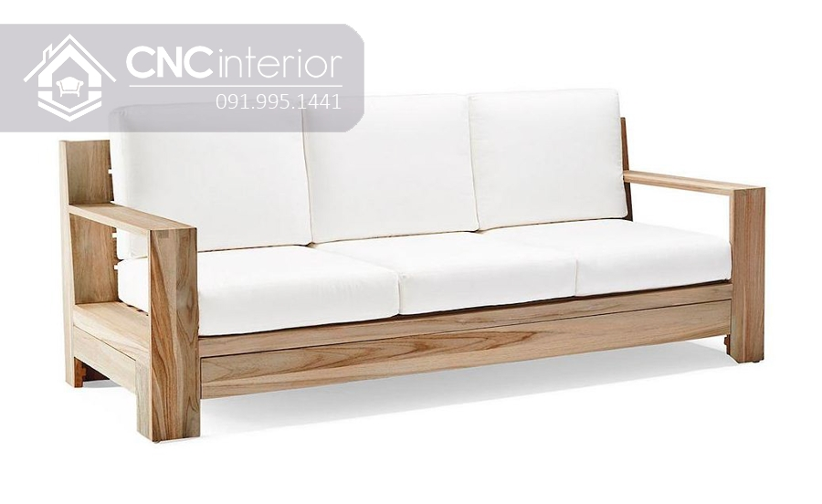 Ghế sofa đơn giản bằng gỗ CNC 23