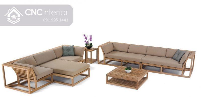 Sofa go don gian CNC 241