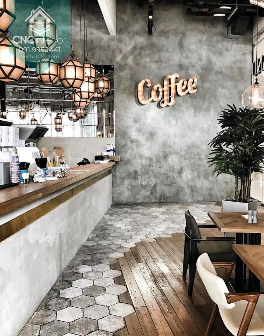 Một góc cá tính của phong cách thiết kế Industrial trong quán cafe