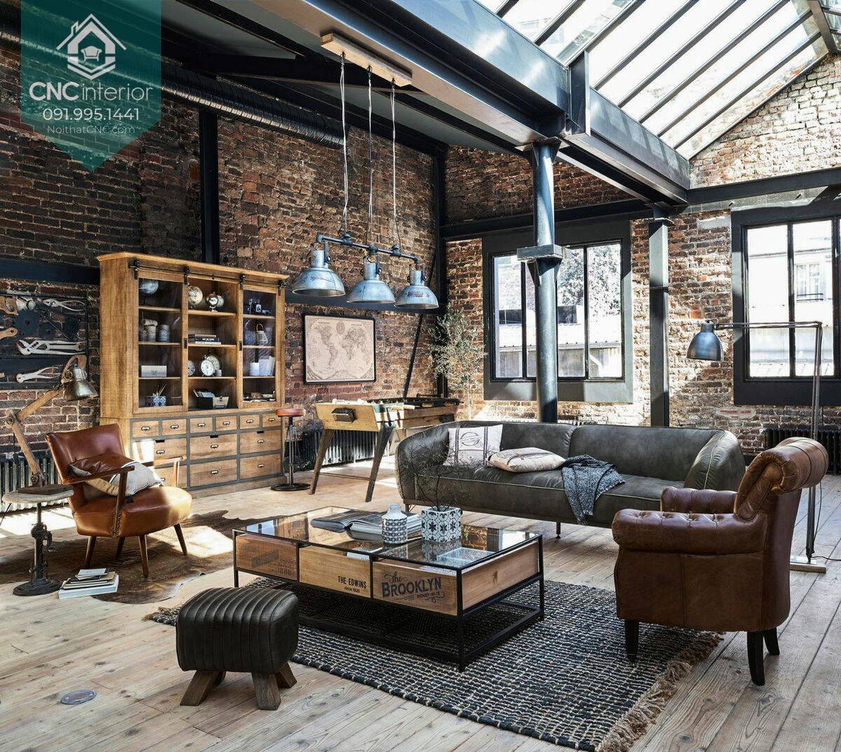 Không gian nội thất độc đáo mang phong cách Industrial