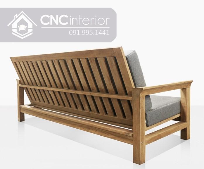 Ghế sofa gỗ chữ I hiện đại đơn giản CNC 07 1