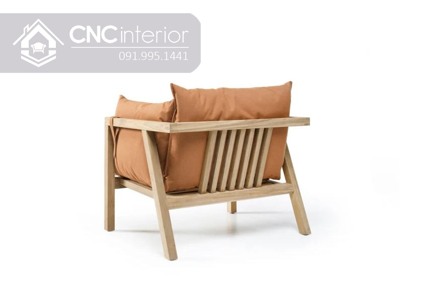 Ghế gỗ sofa đơn giản nhỏ gọn đẹp CNC 27 3