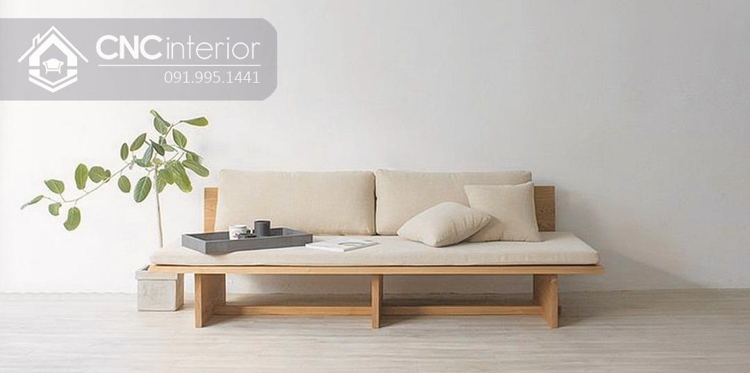 Sofa gỗ tự nhiên bền chắc thân thiện CNC 30 1
