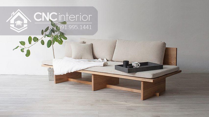Sofa gỗ tự nhiên bền chắc thân thiện CNC 30 2