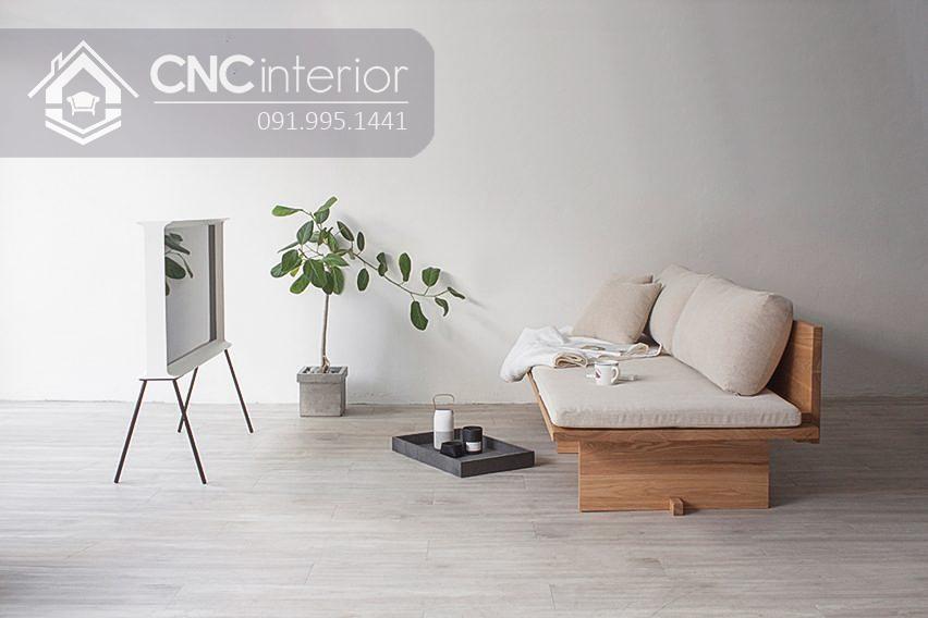 Sofa gỗ tự nhiên bền chắc thân thiện CNC 30 3