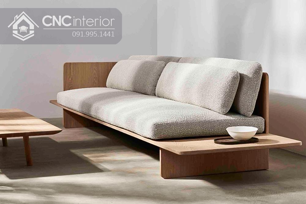 Sofa gỗ chữ I đẹp thu hút CNC 38 2