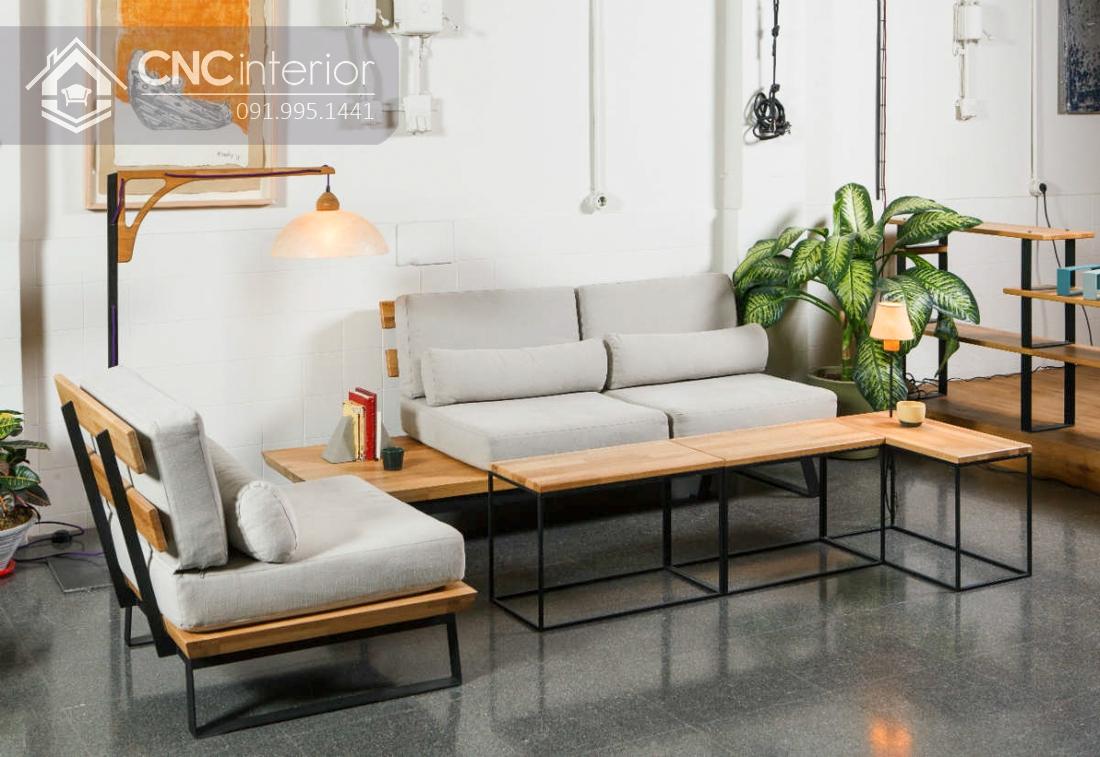 Ghế sofa phòng khách đẹp bắt mắt CNC 41 4