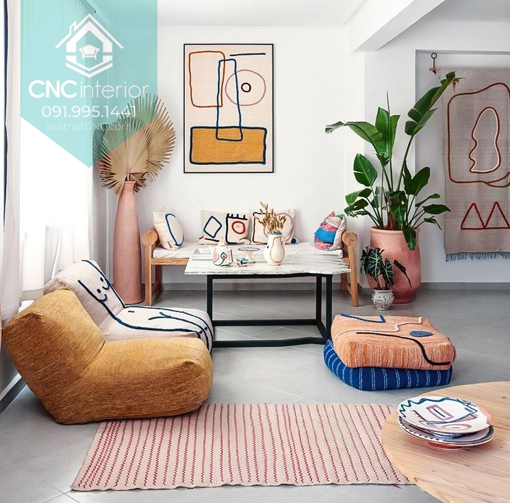 Làm căn phòng nổi bật với kiểu ghế bệt độc đáo