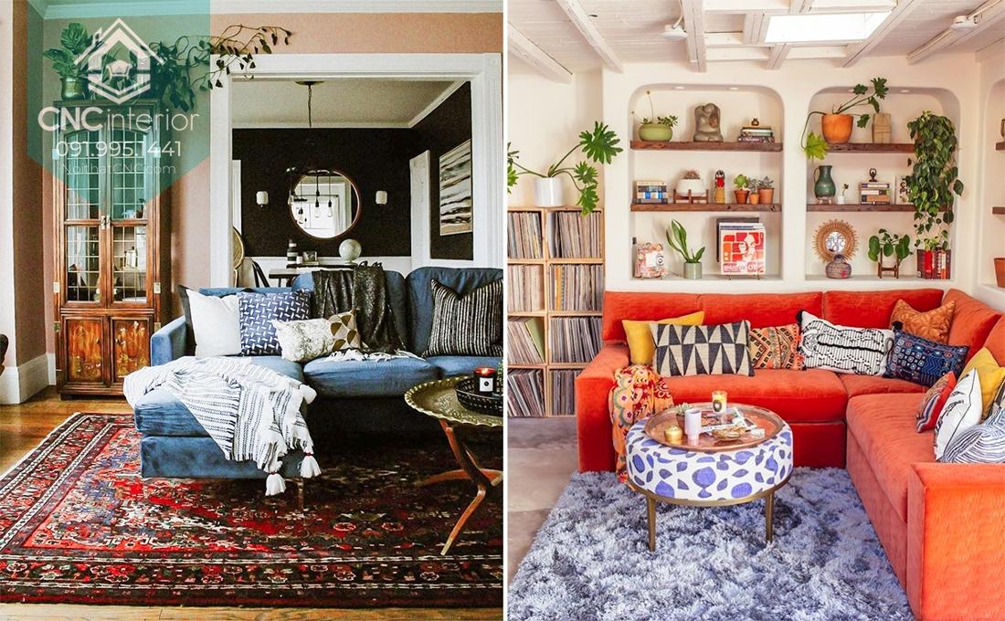 nội thất phong cách vintage và retro