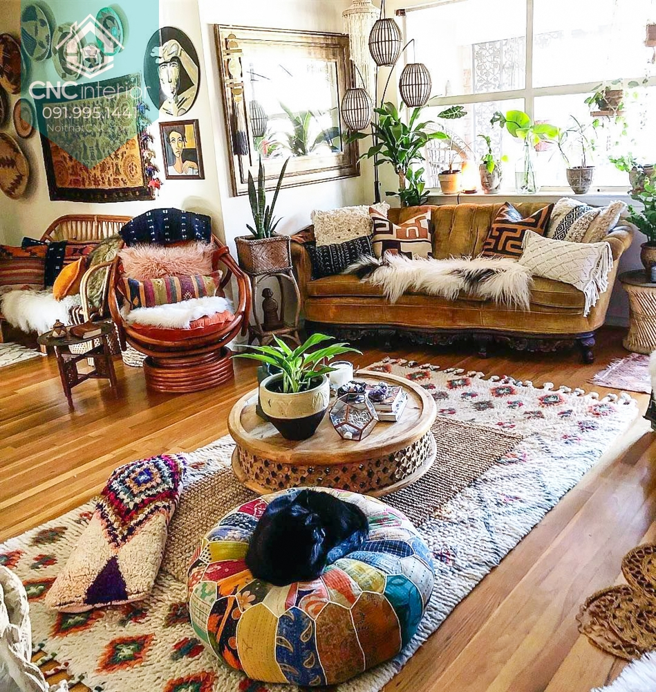 Phong cách nội thất Bohemian 1
