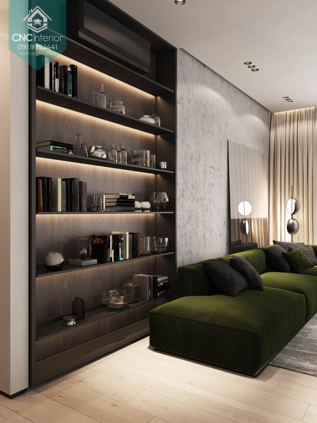 Tủ âm tường phòng khách 1