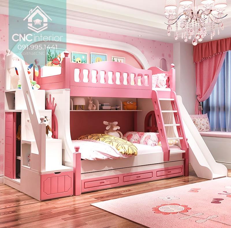 Giường tầng công chúa có cầu trượt 2