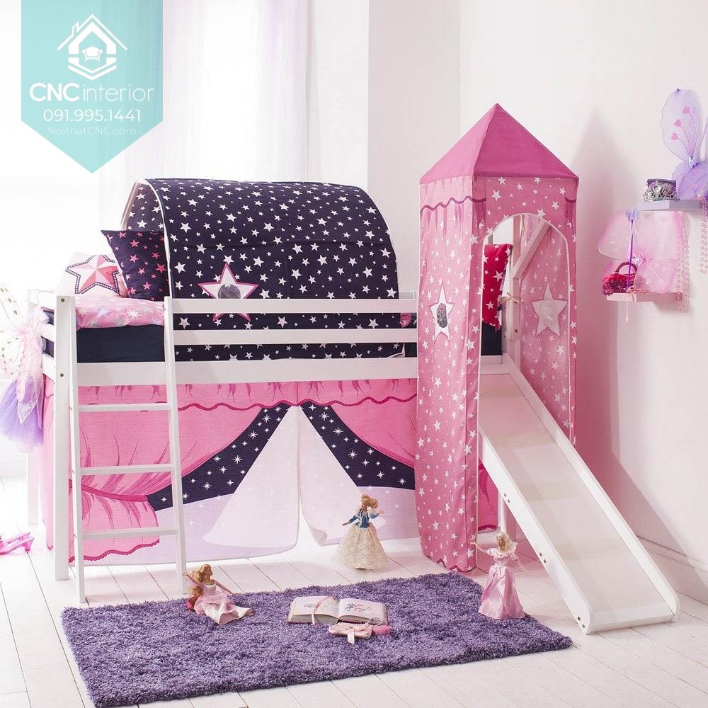 Giường tầng công chúa có cầu trượt 4
