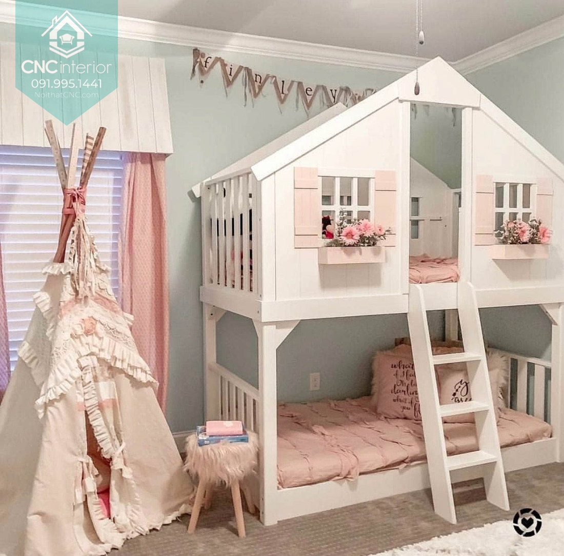 Giường hai tầng công chúa 1