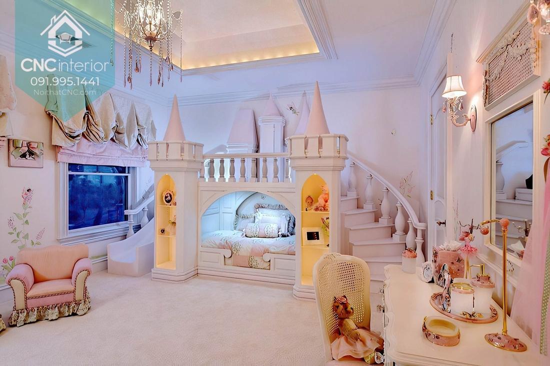 Giường tầng lâu đài công chúa 1