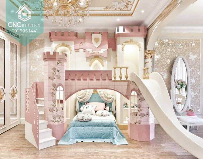 Giường tầng lâu đài công chúa 4