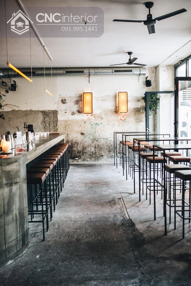Thiết kế quán cafe Industrial