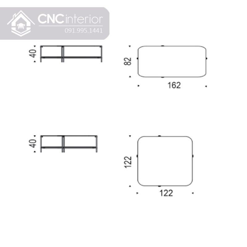Ban tra sofa mat kinh 2 tang CNC 315