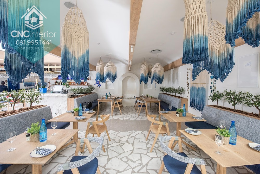 Nhà hàng thiết kế phong cách Địa Trung Hải